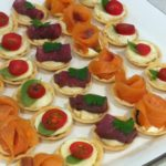 Various Canapes in Pastry Cases