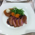 Duck Breast with Caramelised Pear and Blue Cheese
