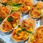Spicy Prawns, Pineapple Salsa