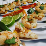 Prawns, lime and chilli